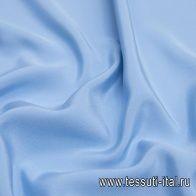Шелк кади (о) голубой - итальянские ткани Тессутидея арт. 10-2044