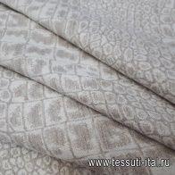 Костюмная (н) бело-бежевая - итальянские ткани Тессутидея