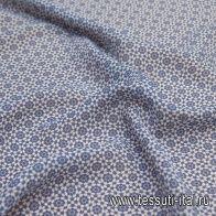 Батист (н) сине-белый орнамент калейдоскоп - итальянские ткани Тессутидея