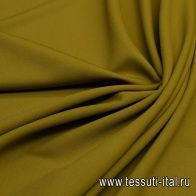 Плательная шерсть супер (о) Leitmotiv темно-горчичная - итальянские ткани Тессутидея