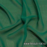 Шифон (о) зеленый - итальянские ткани Тессутидея