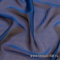 Шифон (о) синий - итальянские ткани Тессутидея арт. 10-2218