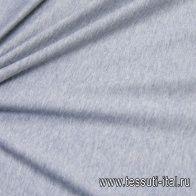 Трикотаж хлопок дабл (о) серо-голубой меланж Loro Piana - итальянские ткани Тессутидея