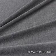 Трикотаж велюр (о) серый - итальянские ткани Тессутидея