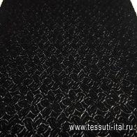 Кружевное полотно (о) черное  - итальянские ткани Тессутидея арт. 03-6411