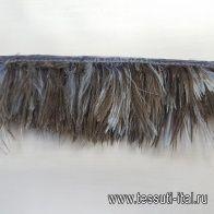 Тесьма из перьев (н) коричнево-голубая 5см Blumarine - итальянские ткани Тессутидея