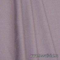 Костюмная (н) бежевая гусиная лапка на светло-сиреневом - итальянские ткани Тессутидея