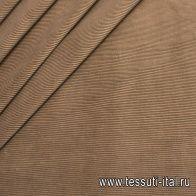 Вельвет (о) темно-бежевый - итальянские ткани Тессутидея