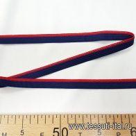 Тесьма (н) сине-красная ш-1,3см - итальянские ткани Тессутидея