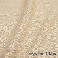 Пальтовая дабл (н) бежево-белая елочка - итальянские ткани Тессутидея арт. 09-1885