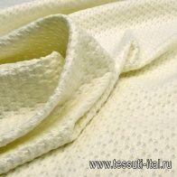 Жаккард матласе (о) айвори - итальянские ткани Тессутидея арт. 03-5451