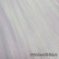 Плиссе (о) белое с салатовым люрексом - итальянские ткани Тессутидея
