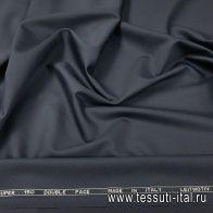 Плательная шерсть супер (о) Leitmotiv темно-синяя - итальянские ткани Тессутидея