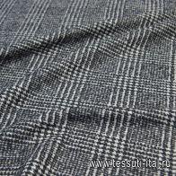 Пальтовая дабл (н) черно-белая гусиная лапка - итальянские ткани Тессутидея