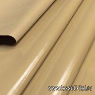 Плащевая с водоотталкивающим покрытием (о) бежевая в стиле Burberry - итальянские ткани Тессутидея