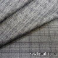 Костюмная клетка (н) коричневая - итальянские ткани Тессутидея арт. 05-1161