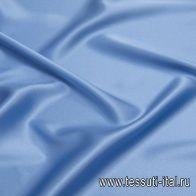 Шелк атлас стрейч (о) голубой - итальянские ткани Тессутидея