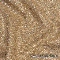 Шанель с люрексом (о) бежево-золотая - итальянские ткани Тессутидея арт. 03-6620