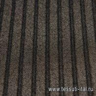 Плиссе из шифона (о) черное с серебрянным напылением - итальянские ткани Тессутидея
