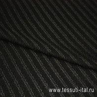 Жаккард фактурный  (о) черный ш-150см - итальянские ткани Тессутидея арт. 03-3367