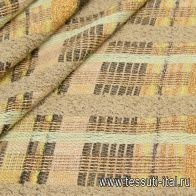 Шанель с люрексом (н) коричнево-мятная Carnet - итальянские ткани Тессутидея