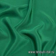 Шелк кади (о) изумрудный - итальянские ткани Тессутидея арт. 10-1896
