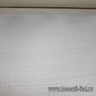 Пальтовая фактурная (о) молочная - итальянские ткани Тессутидея арт. 15-0740