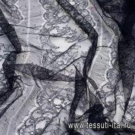 Кружево (о) темно-синее Solstiss - итальянские ткани Тессутидея