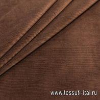 Вельвет (о) коричневый - итальянские ткани Тессутидея