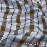 Батист (н) черно-желто-голубая клетка - итальянские ткани Тессутидея