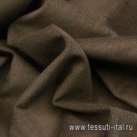 Микровельвет (о) коричневый Pal Zileri - итальянские ткани Тессутидея