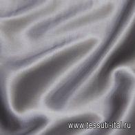 Шелк атлас стрейч (о) серый - итальянские ткани Тессутидея
