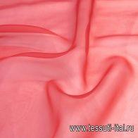 Органза (о) красно-оранжевая - итальянские ткани Тессутидея