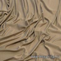 Трикотаж купра (о) коричневый - итальянские ткани Тессутидея