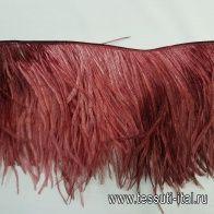 Тесьма из перьев (н) бордовая 15см Blumarine - итальянские ткани Тессутидея