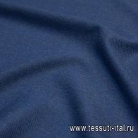 Пальтовая дабл двухслойная (о) синяя диагональ/хаки Loro Piana - итальянские ткани Тессутидея