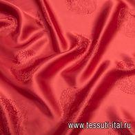 Подкладочная жаккард (о) красная - итальянские ткани Тессутидея
