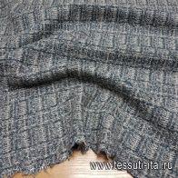 Трикотаж шерсть (н) серо-бирюзовый орнамент - итальянские ткани Тессутидея арт. 15-0738