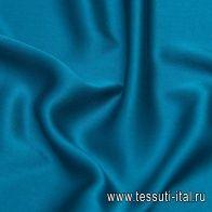 Шелк атлас стрейч (о) морская волна - итальянские ткани Тессутидея
