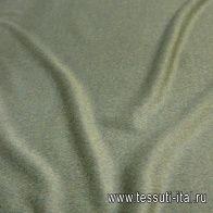 Пальтовая (о) зеленая меланж - итальянские ткани Тессутидея