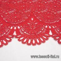 Кружево макраме (о) красное в стиле Scervino - итальянские ткани Тессутидея арт. 01-6450