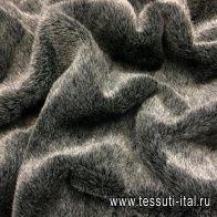 Мех искусственный (о) серый - итальянские ткани Тессутидея