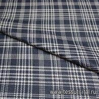 Костюмная шанель (н) бело-синяя ш-150см - итальянские ткани Тессутидея арт. 05-2150