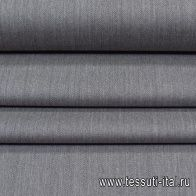 Костюмная (о) серая меланж с сине-красно-белой полосой - итальянские ткани Тессутидея арт. 05-4034