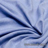 Лен (о) голубой меланж - итальянские ткани Тессутидея арт. 16-0484
