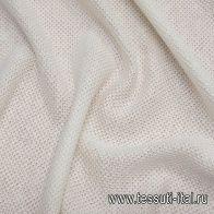 Трикотаж вязанный хлопок (о) белый  - итальянские ткани Тессутидея