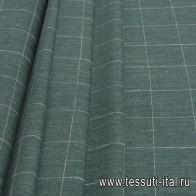 Костюмная (н) зелено-белая клетка Loro Piana - итальянские ткани Тессутидея