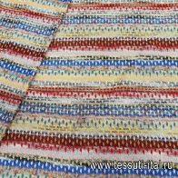 Трикотаж с люрексом (н) яркая фантазийная полоска в стиле Missoni  - итальянские ткани Тессутидея