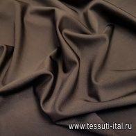 Джерси вискоза стрейч (о) темно-коричневое - итальянские ткани Тессутидея