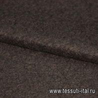 Пальтовая мохер дублированная Lanificio Ricceri (о) черно-серая ш-170см - итальянские ткани Тессутидея